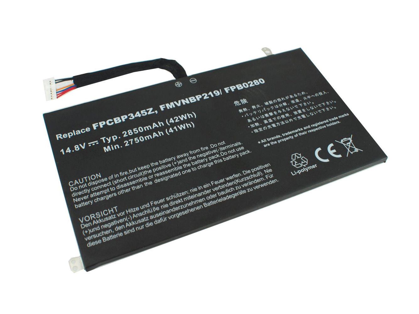 Akku für 2850mAh Fujitsu UH572 FMVNBP219 FPB0280 FPCBP345Z (Ersatz)