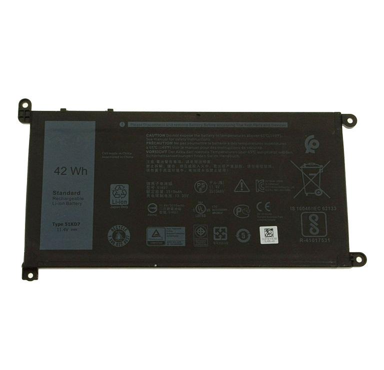 Akku für 42Wh 11.4V 42Wh 51KD7 Y07HK (FY8XM)(Ersatz)